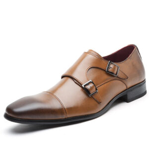 MISALWA Double Monk Strap Shoes