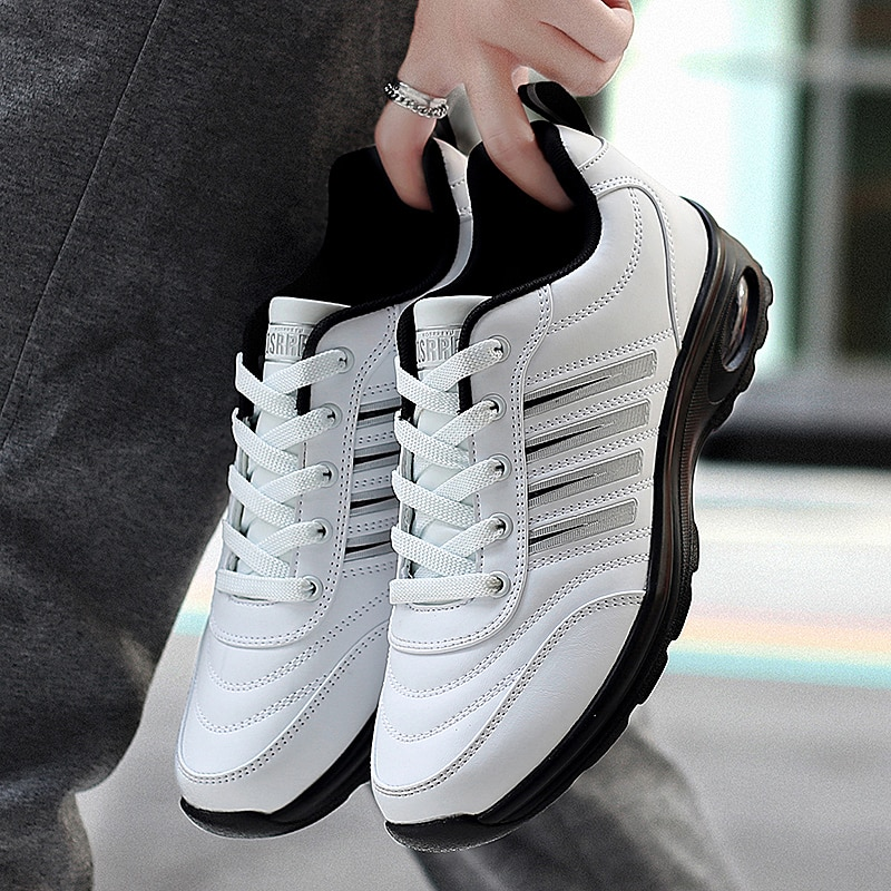 2020 Men Waterproof Golf Shoes Black White Sport Trainers for Golf Spikeless Sneakers Anti Slip Walking Shoes for Mens