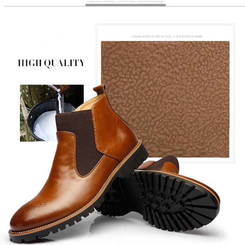 YIGER Chelsea Boots British Style