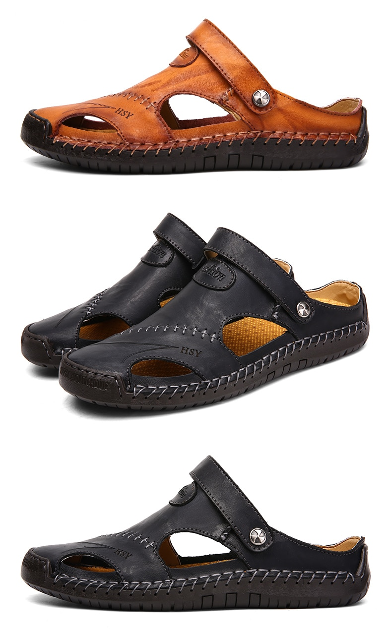 HSY Summer Genuine Leather Sandals