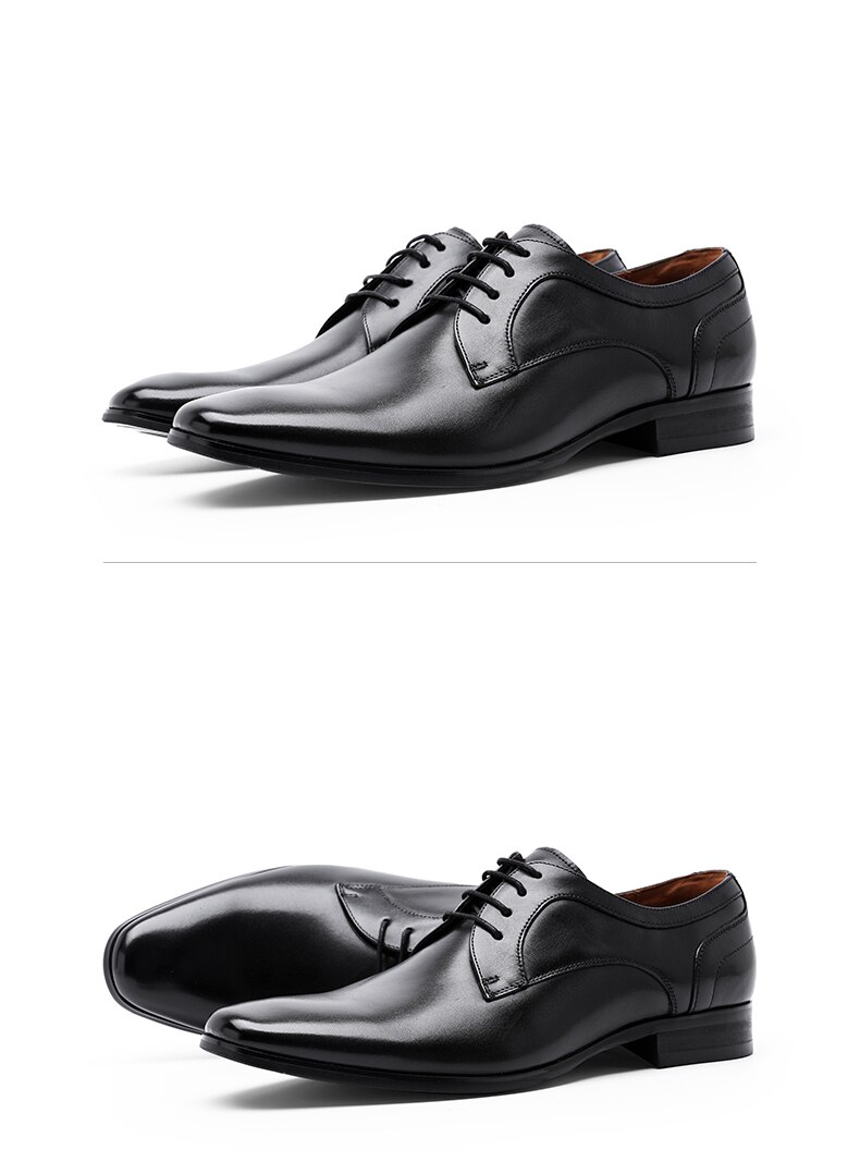 Desai Genuine Cow Leather Shoes Men Winter Derby Black Brown Casual Shoe For Male Formal Row 2020 Fashion New Latest